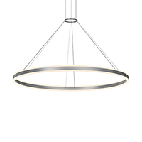 Double Corona introduces bidirectional lighting symmetry to the circular profile of Corona, a Sonneman classic. The warm glow of solid cast, frosted acrylic rings radiates LED illumination in both up and down directions, combining balance with geometric perfection.