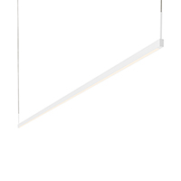 A system of minimally scaled LED linear pendants and wall bars, Thin-Line is offered in a variety of lengths, finishes, and lighting configurations. Thin-Line pendants are available in single- and double-sided configurations; the single-sided configurations can be installed as a downlight or up-light, providing direct or indirect illumination.