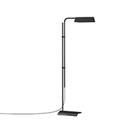 Adjustable in height, rotation, and lighting direction, Morii floor lamps provide a sophisticated, Industrial Modern edge to a task lighting situation.