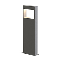 LED illumination is directed downward from the interior top edge of the frame within a broad rectilinear column. Available in three heights, Light Frames bollards project a bidirectional halo of soft radiance outward to the landscape.