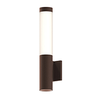 Round columns of light emit the glow of smoothly reflected LED illumination. Available in three bollard heights, and in a wall-mounted configuration with a recessed downlight, Round Columns set an architectural rhythm to an exterior landscape.