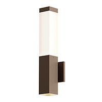 Square columns of light emit the glow of smoothly reflected LED illumination. Available in three bollard heights, and in a wall-mounted configuration with a recessed downlight, Square Columns set a crisp architectural rhythm to an exterior landscape.