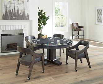 Atherton Game Table by California House. Made in your choice of finishes and fabrics.