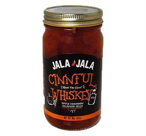 Our newest and extremely popular jelly product.  Cinnamon, whiskey, apple juice, and red jalapeños combine to make this amazing jelly.  Try it on your biscuit or toast in the morning! As with all our other jellies, no filler peppers, only fresh jalapeños from a local farmer.