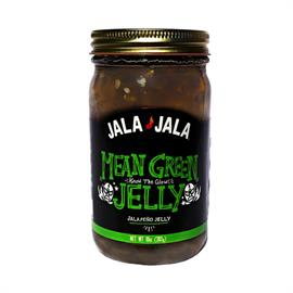 "This jelly is made with our fresh green Jalapeño pepper mash and pure cane sugar instead of corn syrup. The fresh peppers and sugar help bring out true jalapeno flavor. This jelly has a nice sweet front and ends with ""the Glow"". We only use jalapeño peppers and no other filler peppers, such as bell peppers, to enhance the true jalapeño  flavor."