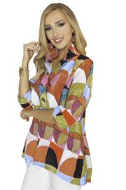 MULTI COLOR WIRE COLLAR TUNIC