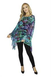 Lior One Size Float Top in Multi Color Print