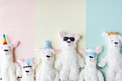 These very soft llama loveys are handmade with hand stitching details in the USA by fellow moms. Due to this there will be slight variations, making each lovey one of a kind.