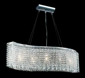 "5 Lights, 7"" Wide x 8-1/2"" High, Adjustable Hanging height from 18"" to 62"""