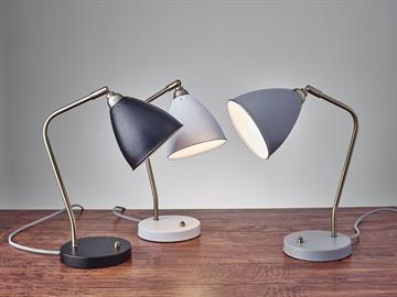Adesso inc dallas market center 186 the chelsea desk lamp features classic antique brass finishes and mid century forms a mozeypictures Images