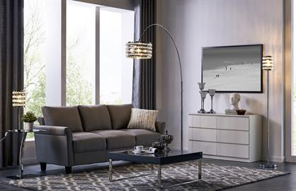 Valerie collection from Lite Source highlights the glamor of crystal with laser-cut metal frame. The chrome finish shines reflection of the perfect cut crystal to cast illumination and shades to the room.
