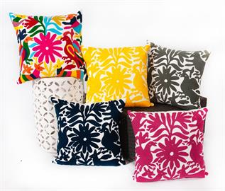 OTTOMI PILLOWS HAND EMBROIDERED