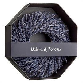 Pretty in purple, this wreath is designed with real lavender preserved with its trademark natural fragrance. Item #KWL452