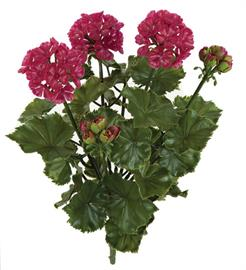 "17"" UV Rated Geranium Bush - Wine/Red. Other Colors available including Orange/Red, White, Pink, Beauty."