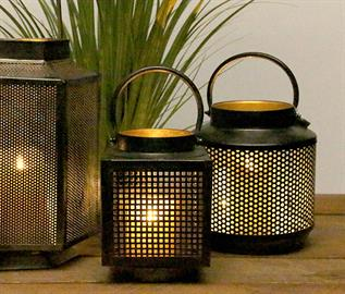 Add some fairy lights or a pillar candle to this lantern for a romantic feel in any space.