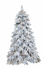 Heavy flocking gives this tree a real heavy snow look. Available in 7.5'-12', lit and unlit.