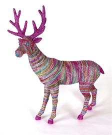 "14"" Jeweled multi-color standing deer"