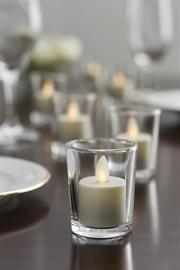 Fill the room with the warm glow of candlelight. Our Moving Flame® Candles create a visible and realistic flame that flickers and dances like a traditional flame. With an extensive line of colors, textures and styles our candles will compliment any décor.