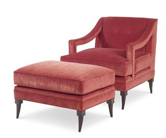 220; The Perry Chair And Ottoman Can Add A Touch Of Dressed Up Casual  Elegance To Any