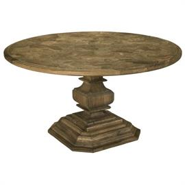 Intricate Burl Wood Top Dining Table offered in custom sizes. This is a new updated finish on a Best Selling Table