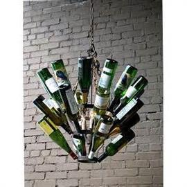Every Wine Lover's Home needs this Wine Bottle Chandelier. Wine Bottles not included. Add your favorite vintages.