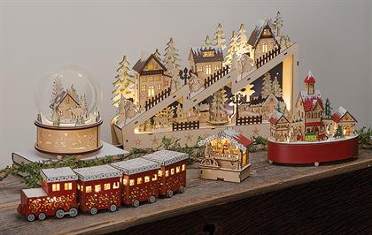 With many new designs for 2018, each piece in our Woodworks Collection carries a traditional Bavarian Christmas look and feel. Crafted of laser cut wood, most pieces are lighted to capture the intricate details.