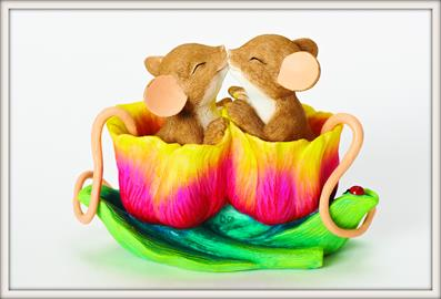 These cute mice are sure to be a hit with everyone.  There is a Charming Tale® for any occasion.