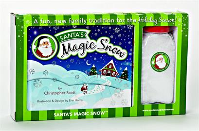 The charming book and kit relays how the Magic Snow from Santa's boot doesn't melt overnight!