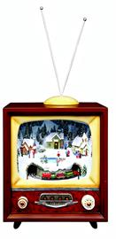 Part of our Amusements™collection, these vintage TV sets with trains are a huge hit with everyone!  Set the theme for your Christmas decor.