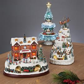 Displaying a wide variety of retro Christmas scenes, Amusements bring loads of fun to your holiday display. Each piece lights, plays music and/or moves to your delight!