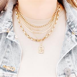 Curb Chain Necklace Everyday Necklace Snake Chain Necklace Chunky Chain Necklace Initial Plate Necklace