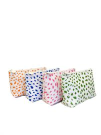 signature spot print coated cotton cosmetic bag