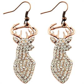 "Deer Crystal Earrings Also available in Silver Earrings are 2.5"" in height"