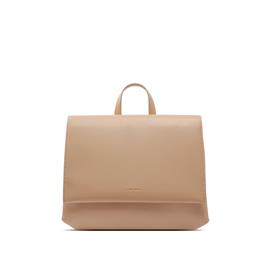 This briefcase-style backpack is practical yet chic, with a clean minimalistic design and dedicated laptop pouch.