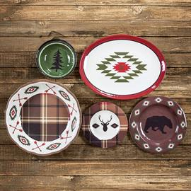 Add a rustic flair to your kitchen with this Aztec inspired melamine dinnerware collection. The combination of outdoorsy and southwestern elements is perfectly captured within this ensemble. Each type of item in the set has its unique flair for a corresponding combination of bold takes. With both natural and geometric motifs, this set is a crowd pleaser for anyone looking to warm up their kitchen aesthetic.