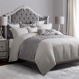 Charming and sophisticated, this classic grey matelassé coverlet set is perfect for year round use. This coverlet is also a duvet cover. The lovely raised design of the matelassé pattern adds a truly elegant look to any room. Queen or King Set includes coverlet and (2) pillow shams.  Add Celeste decorative pillows and accessories to dress up the bed.