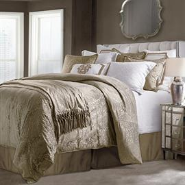 The gorgeous 3 Piece Diane Comforter Set will add refined elegance to any bedroom. The plush embossed velvet in a classic damask design creates sophisticated feel. The cuddly soft velvet construction will make you never want to get out of bed.
