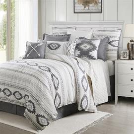 The Free Spirit Comforter Set will add a relaxed Bohemian feel to your bedroom. In tranquil hues of grey and soft white you will never want to get out of bed.