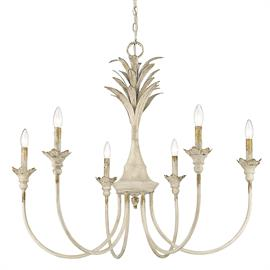 Lillianne is like a tropical, exotic bird with its feathers on full display. The metal antique ivory feathers are glorious. The delicate feminine arms command attention as they reach toward the sky. Add a whimsical air with mysticism and wonder to your space with this gorgeous chandelier.
