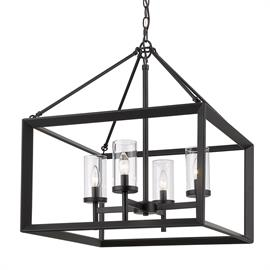 Now in Matte Black...these modern lanterns feature a handsome beveled cage design that makes an elegant statement. Clean geometry creates contemporary style with steel candles and candelabra bulbs encased in select glass options and a variety of finishes.