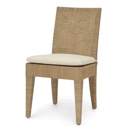 Jeffrey Alan Marks Collection. Hardwood frame and legs fully wrapped with finely woven natural abaca rope. With loose seat cushion.