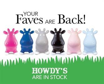Howdy Cows for your bouncing boys & girls