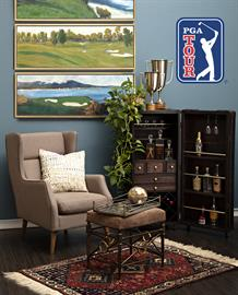 Inspired by golf's esteemed destination for post-round camaraderie and contemplation, the PGA TOUR Clubhouse collection showcases style reminiscent of the houses at Scotland's St. Andrew's Links – a combination of traditional and modern-day design.