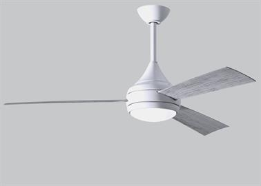 With teardrop motor housing, the Donaire 316 marine grade stainless steel wet location ceiling fan is transitional in design. Donaire is finished in brushed bronze or brushed stainless and is equipped with an 16W LED, dimmable light kit with optional metal cover.