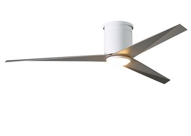 "Designed by Chicago architect Stephen Katz in 2016, the Eliza blends a beautiful technically derived form with superior function and movement. The unique blade shape is designed to maximize air movement at the outer edge of the blade. The result is more efficient air velocity rings, less blade drag and greater motor optimization. Equally important is the Eliza fan's stationary visual statement which combines modern utility with minimalist geometry. •56"" diameter. •Energy efficient, ultra-quiet, six-speed"