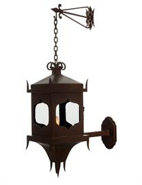 A gothic take on our classic Hacienda Lantern - perfect for exterior use on any chateau or castle.