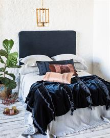 Our new Loulah Wedding Blanket in Midnight is a beautiful indulgence for the end of your bed