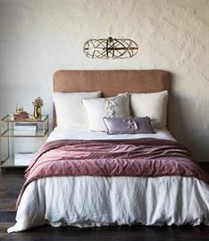 Our new Helane Personal Comforter has the loveliest hand and vintage appeal, shown here in Rosegold