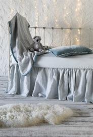 All in Cloud: Adele Baby Blanket, Carmen Kidney Pillow, Madera Luxe Crib Sheet, Linen Crib Skirt