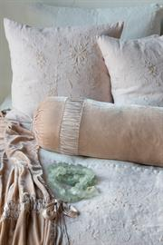 Soft ruching adds interest to our Loulah Bolster.
